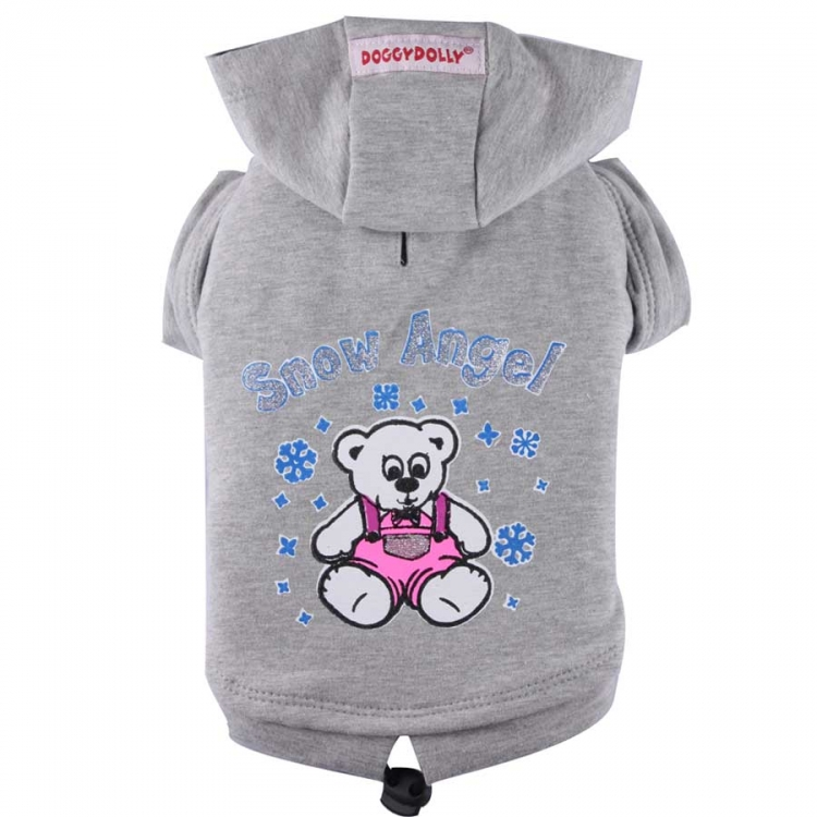 Doggydolly BIG DOG Hundesweatshirt Snow Angel grau