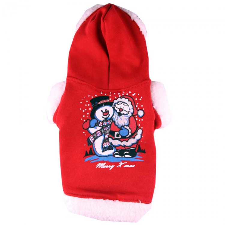 Doggydolly BIG DOG Hundewinterpulli Xmas Schnee rot