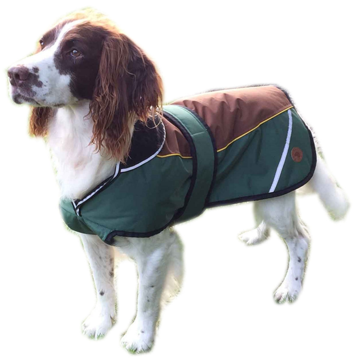 Hundewintermantel Waterproof, khaki 65cm