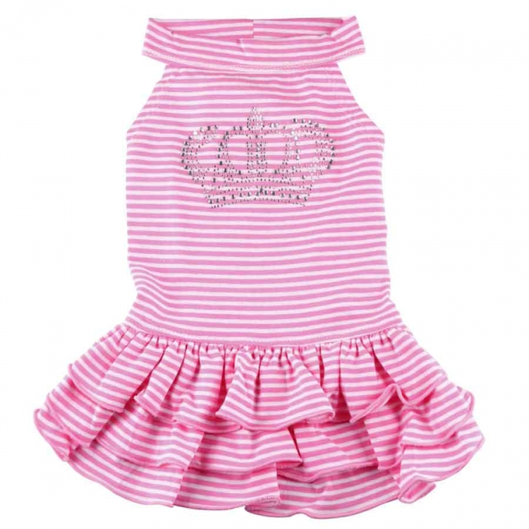 Doggydolly Hundekleid Krone rosa