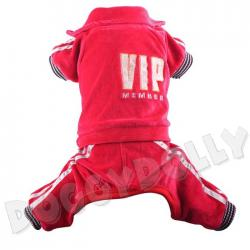 Bully Jogginganzug VIP rot Nicki Mops & Bulldogge