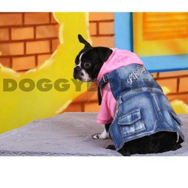 Bully Latzrock Lifestyle Jeans hell Mops & Bulldogge
