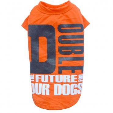 Hundeshirt Double orange
