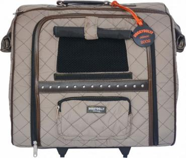 Hundetrolley Luxus creme 30x45x37cm