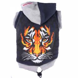 Doggydolly Big Dog Kapuzenshirt Tiger blau