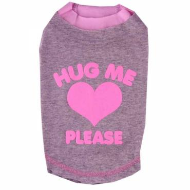 Doggydolly Big Dog Shirt Hug me grau