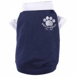 Doggydolly Big Dog Fleecepulli blau