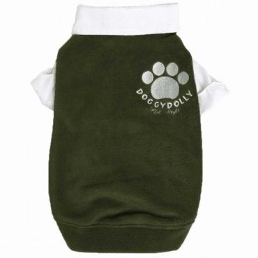 Doggydolly Big Dog Fleecepulli grün