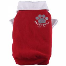 Doggydolly Big Dog Fleecepulli rot